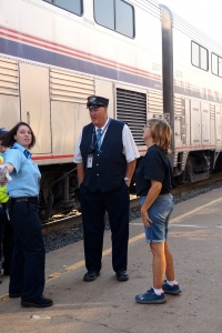 Amtrak conductor