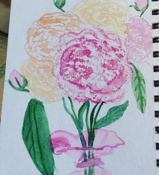 painted peonies